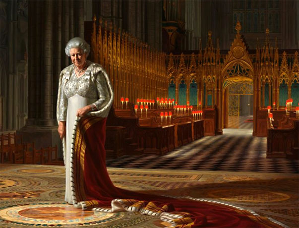 Portrait of the Queen of Australia by Ralph Heimans 2012